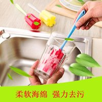 Wholesale Simple and durable scrubber sponge plastic for cleaning baby bottles brush
