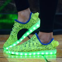 Wholesale LED Casual Shoes For Men Women Sneakers Running Shoes Lace up mAh Built in Battery hours Stanby