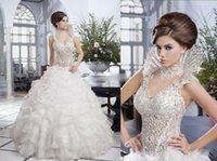 beautiful shirt designs - Custom Made Hot the Luxury Beautiful Wedding Dress China Design Lace Beads Corset Ruffles Organza Skirt Beading Collar