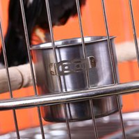 Wholesale Stainless Steel Hook On Cage Crate Coop Cup for Birds Dogs G01626