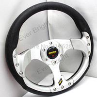 auto steer wheel cover - Interior Accessories Steering Covers Hot sales Inches car MOMO Steering wheel auto PU Suede Leather momo steering wheel