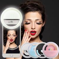 Wholesale LED Selfie Flash Light for iPhone Plus Plus Samsung Note Blackberry Motorola Droid Iphone Selfie Ring Light Fashion Christmas Gift