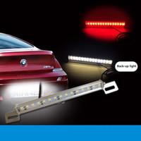 car led brake light - Aluminum alloy W LED Car Brake Lights High Power High Brightness Red White Reversing Assist Lamp for Car JTCL008