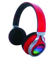 studio flash - D Shenzhen OEM ODM factory bluetooth headset with FM radio LCD display aux cable colorful flashing