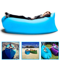 air mattress - 9 Colors Fast Infaltable Sleep Bag Seconds Quick Open Lazy Sleeping Bed Lamzac Kaisr Folding Sofa Beach Sleep Bed