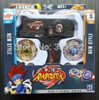 Wholesale 1pcs Beyblade box set sale d Launcher sale Metal Fusion gyro Kids Game Toys beyblade toy set Children Christmas gift