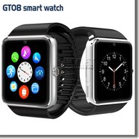 Cheap GT08 Bluetooth Smart Watch With SIM Card Slot NFC Health Watchs For Android Samsung and IOS Iphone Smartphone Bracelet Smartwatch In Box