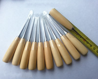leather tools - Professional Leather Wood Handle Awl Tools For Leathercraft Stitching Sewing