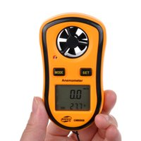 Wholesale Portable Wind Speed Temperature Gauge Anemometer with LCD Digital Display NTC Thermometer Between C to C