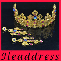 Wholesale The bride adorn article Crown princess of European baroque headdress high end luxury hair accessories