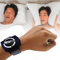 Wholesale Smart anti snore device stopper Snore Gone Stop Snoring Anti Snoring Wristband Watch Sleeping Aid Equipment Health Care Tools