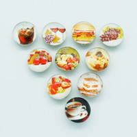 beauty delicious - Hot sale Beauty NB0087 delicious Food Mixed MM Photo Glass cabochon Ginger snap buttons for DIY ginger snap jewelry bracelet Accessories