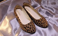 ballerina canvas - 2016 New Fashion Quanlity Womens Leopard Print Ballerina Flat Ballet Shoes Big Size eur35 eur41