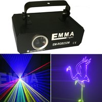 Wholesale Promotion Price Nearly W mW RGB animation laser light projector professional stage lighting professional laser software