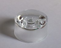 Wholesale 1200pcs MIX waterproof LED lens degree mm PMMA transparent surface for spotlight diodes optical lens holder