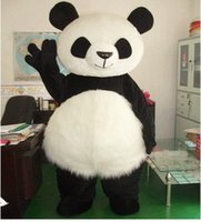 Wholesale Deluxe giant panda mascot costume plush clothing cartoon mascot Kung Fu Panda high quality free delivery