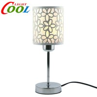 ac giving - Modern Fashion flower carved Table Lamp Bedside Lamp Bedroom Lamp and give a LED Bulb as a present