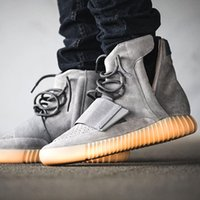 Wholesale Boost Glow In The Dark High top Running Shoes For Women Man Grey Gum Kanye West Boost BB1840 Cheap Sneakers Size