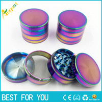 alloy piping - 50mm mm Cool Colourful Metal Zinc alloy Grinder Tobacco Smoking Cigarette Crusher Spice Muller Pipe Accessories Herb Grinder parts