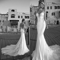 Cheap 2015 Galia Lahav Wedding Dresses White Tulle Lace Backless Beach Mermaid Bridal Gowns Elegant Vintage Trumpet Wedding Gown Vestidos Custom