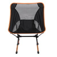 beach chairs aluminum - New Outdoor Fishing Camping Chair Aluminum Heightened Lightweight Chair Seat Foldable Stool Outdoor Beach Chair