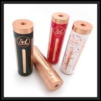 Wholesale Newest TVL Mod Clone TVL Colt Mechanical Mod Copper Material Colors High Quality E Cigarette Vape Mod Fit RDA Atomizers