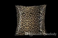 Wholesale 2016 Direct Selling Hot Sale Almofada Cojines Decorativos Leopard Print Suqare Pillow Luxury Embroidered Cushion Cotton Pillows Case Cover