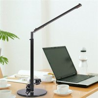 adjustable table base - Adjustable Eye caring LEDs Desk Table Lamp Toughened Glass Base for Home Office Reading Studying White high quality