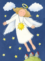 believe painting - cartoon pictures canvas prints children home decor giant posters modern decorative art I believe I can fly My dream