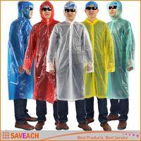 Wholesale Disposable PE Raincoat Poncho Rainwear Travel Rain Coat Rain Wear mixed colors Hot EMS