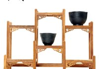Wholesale Ancient boat rosewood tea small holder Shelf wenge wood shelf bracket display stand