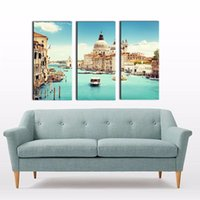 bar spirits - LK365 Panel Spirit Up Art Italy Venice Landscape Oil Painting Wall Art Modern Pictures Print On Canvas Paintings Sale For Home Bar Hub K