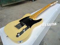 Custom Shop Deluxe Tele TL Crema Vintage Blanco Esquire Blonde Guitarra Eléctrica Envío Gratis String Thru Body Negro Pickguard