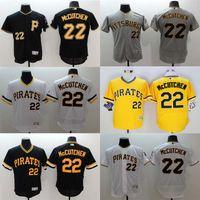 Wholesale Majestic - Baseball Jerseys Men's Pittsburgh Pirates #22 Andrew McCutchen Flexbase Black White Yellow Jerseys Majestic Jersey M - XXXL