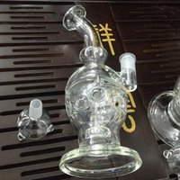 Wholesale Glass Bong Water Bongs Water Pecolator Glass smoking Pipes Oil Rigs Joint MM beaker base glass bong