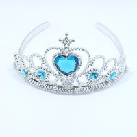 anna stone - 2016 New Cosplay Children Frozen Anna Elsa Tiara Elsa Anna Princess Crowns Stones tiara baby party hair accessories pageant hairbands MC0109