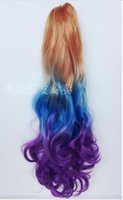 Cheap 2016Choose From 10 Styles Ombre Dip Dye Long Wavy Heat Resistant Ponytail Claw Clip In Hair Extensions For Party Festival Party