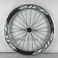 Wholesale A pair full carbon road wheels mm clincher alloy brake surface bicycle wheelset c mm width