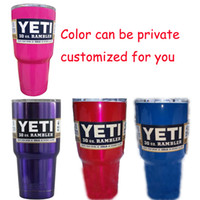 Wholesale Yeti Mugs Yeti Rambler Tumbler Cup color available Blue Green Orange Pink Purple Colors For You Choose oz Double Walled Insulation