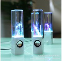 Wholesale Dancing Water Speaker Music Audio MM Player LED Light in USB Mini Colorful Water Drop Show Fountain Speakers ZD063