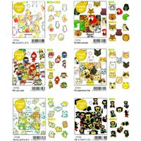 Wholesale 70pcs set Color animal series sticker diary scrapbooking tools stickers Stationery Office accessories School supplies tt