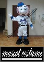 athletic met - an adult mr met costume Mr met mascot costume for adult to wear