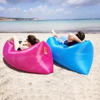 Wholesale 2016 New US stock lamzac inflatable air lounge sleep lamzac hangout Laybag KAISR Beach Sofa Lounge only Seconds Quick Open Lay bag