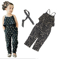 Wholesale girls Rompers clothes kids Girls harness heart shaped piece clothing set kids summer Jumpsuit clothes