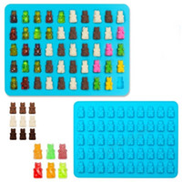Wholesale 50 Cavity Silicone Bear Shape Baking Ice Cube Tray Candy Chocolate Molds Making Gummy