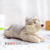 american wildlife - 1pcs Foreign trade tail single export in Finland North American coyote Lovely doll simulation Wolf wildlife plush toys