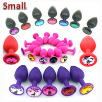 Wholesale Silicone Mini Anal Sex Toys For Women Men Erotic Butt Plugs Crystal Jewelry cm Adult Booty Beads Anus Products Anal Tube