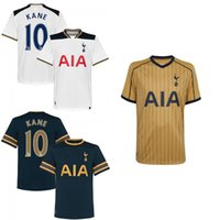 Wholesale Tottenham thai Soccer Jersey Mason Kane Lamela YEDLIN Lloris Eriksen Rose Away Blue RD third Gold yellow football shirt