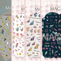 Wholesale See details BIRDS Newest NO MAGICO Series d nail art stickers nail art decal nail art stamping