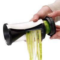 Wholesale S5Q Premium Funnel Shred Spiral Slicer Cutter Vegetable Fruit Peeler Kitchen Tool AAAFZC